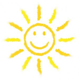 Sonne mit Gesicht